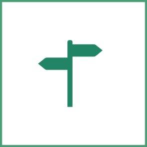 Bonovo Icons einzeln Wegweiser