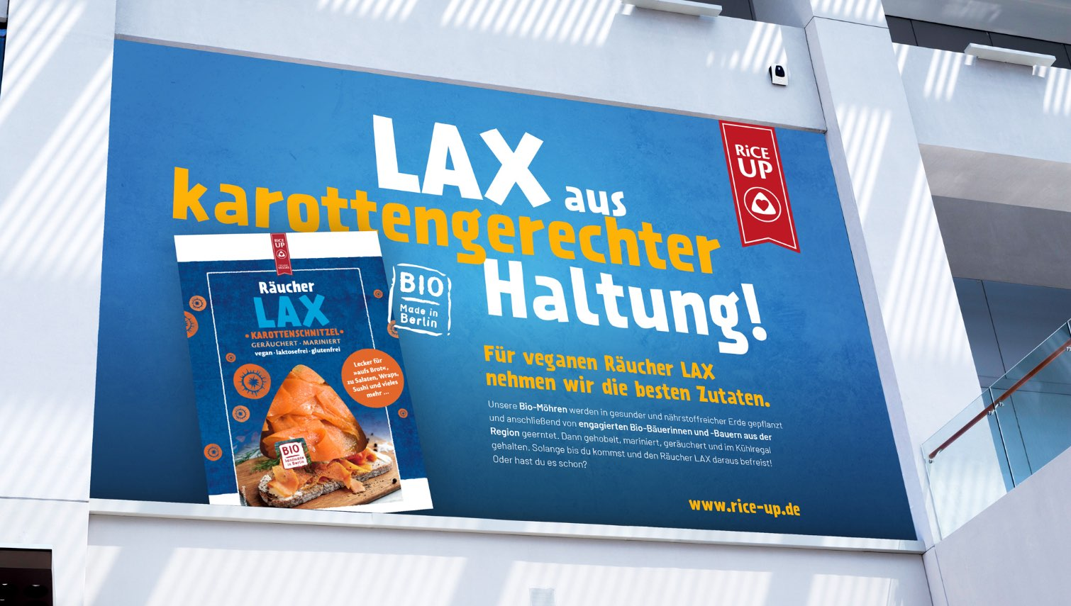 RiCEUP Lax- Kampagne Plakat